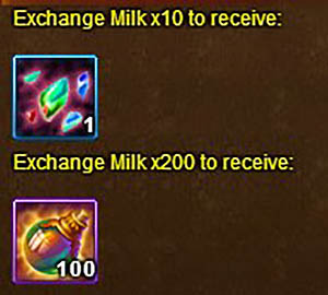 milk, henna and clothing shard exchange