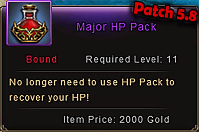 Major HP Pack Patch 5.8 Wartune