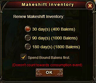 [Patch 5.8] Inventory renew new options