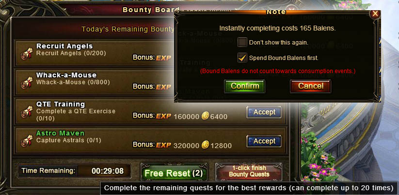 [Patch 5.8] One click finish Bounty Quests