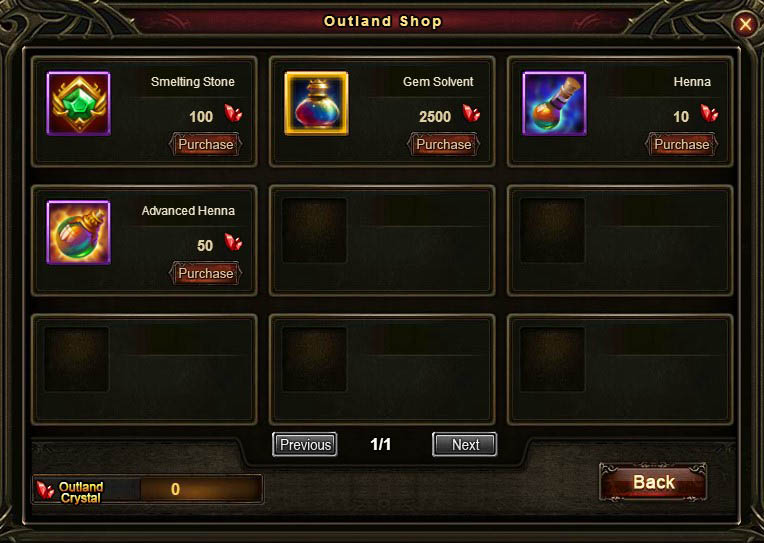 [Patch 5.8] Outland Contest Shop English