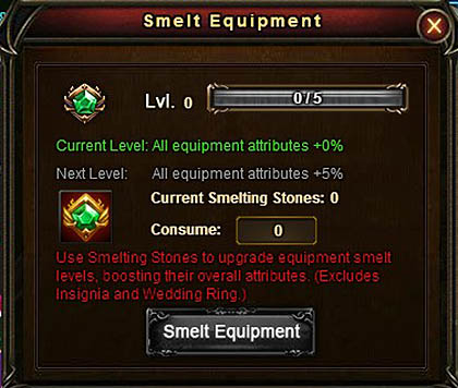 [Patch 5.8] Smelt Equipment upgrade window