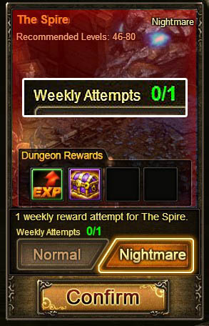 [Patch 5.8] Spire is weekly