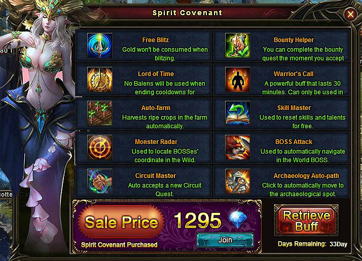 [Patch 5.8] Spirit Covenant main window