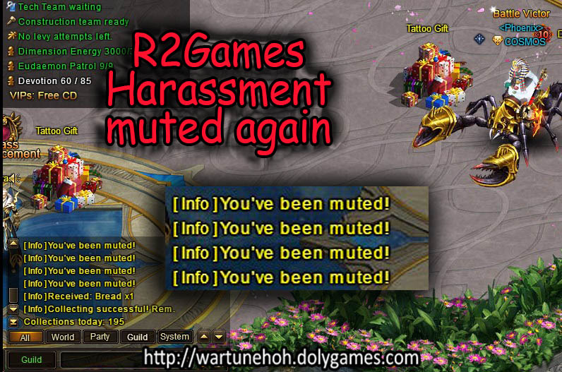 R2Games Harassment muted 12 June 2016
