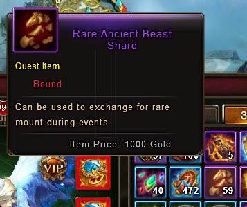 Rare Ancient Beast Shard item description Wartune