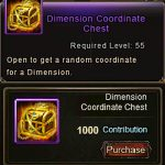 Dimension Coordinate Chest item Wartune