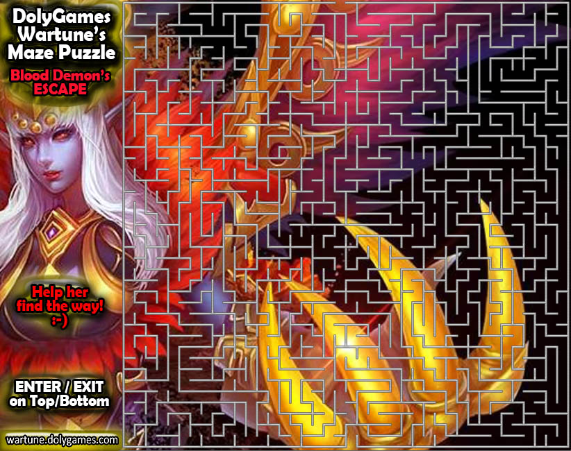 Maze Puzzle - Blood Demon's Escape