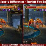 Spot 10 Differences - Scarlett Fire Boss
