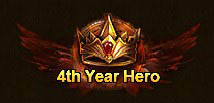 4th Year Hero title icon Wartune