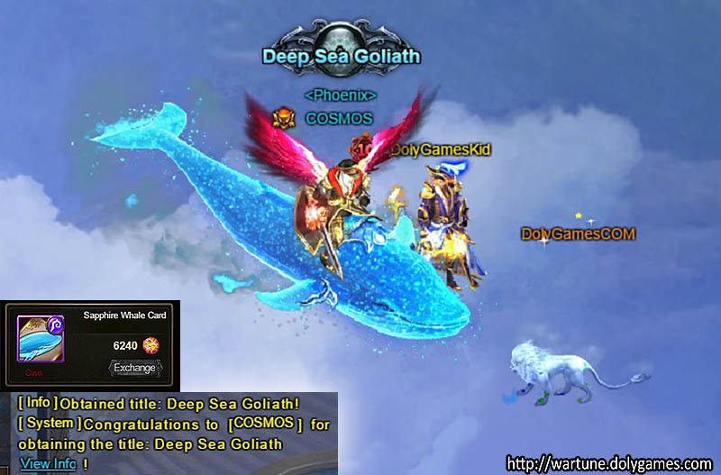 Cosmos achievement Sapphire Whale