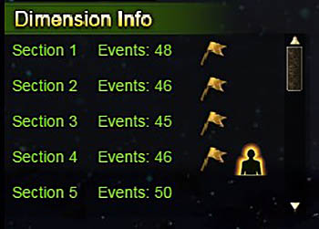 Dimension Info Section 1 to 5