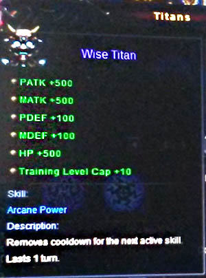 Wise Titan Wartune info