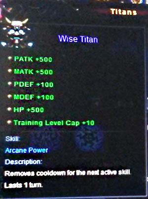 Wise Titan Wartune info