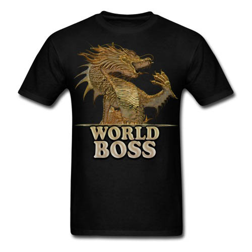 DolyDesign Golden Dragon World Boss T-Shirt