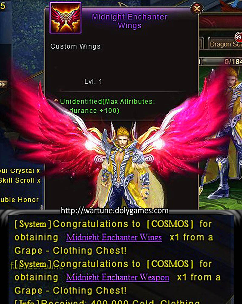 wings weapon 10 grape clothing chests