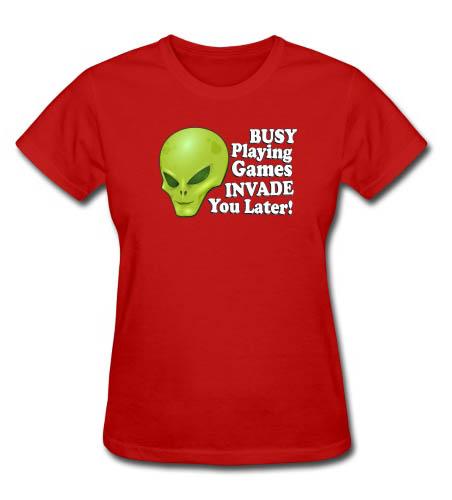 Alien Playing Games Women's T-shirt