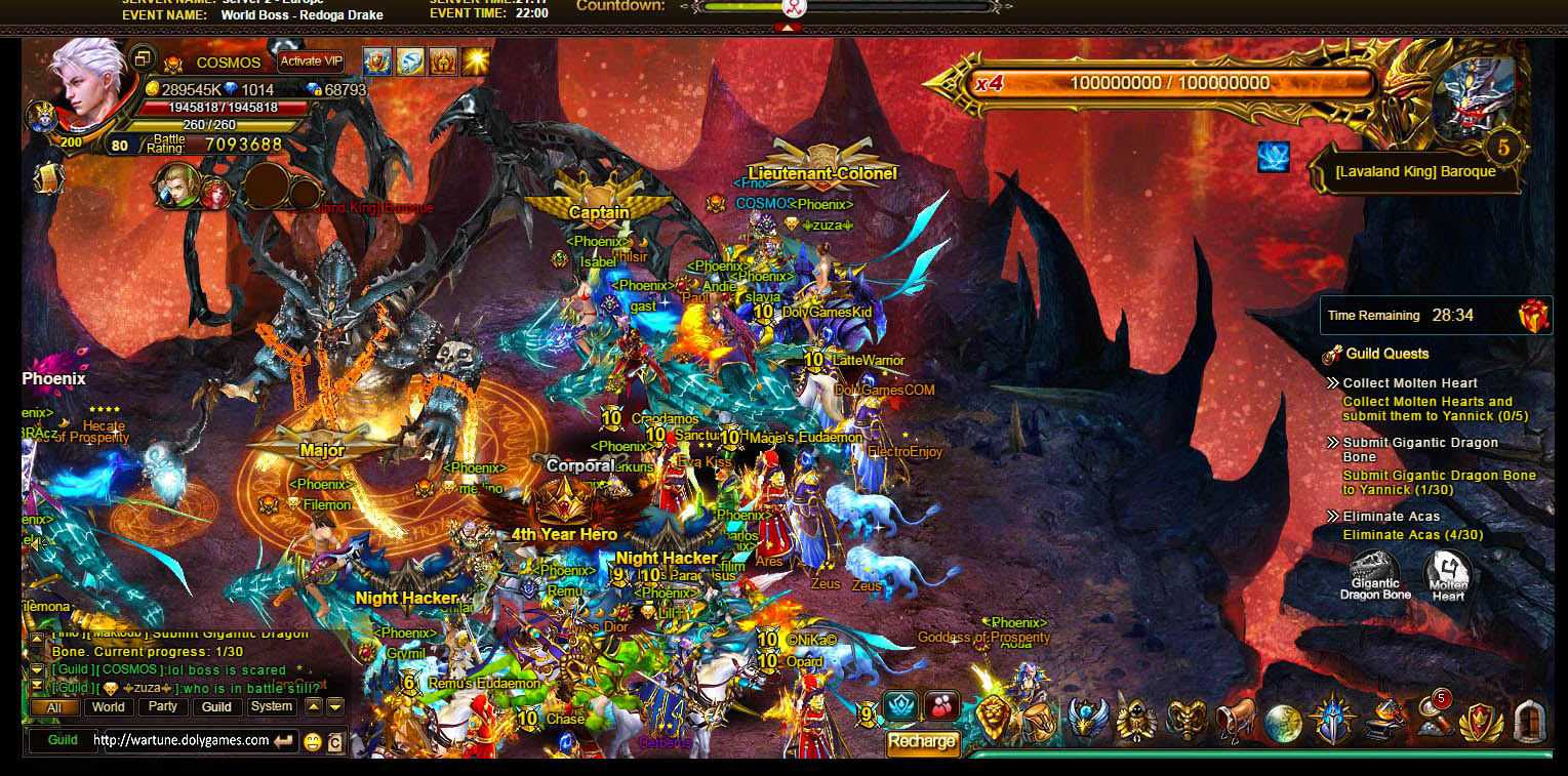 Guild Beast surrounded DolyGames Wartune