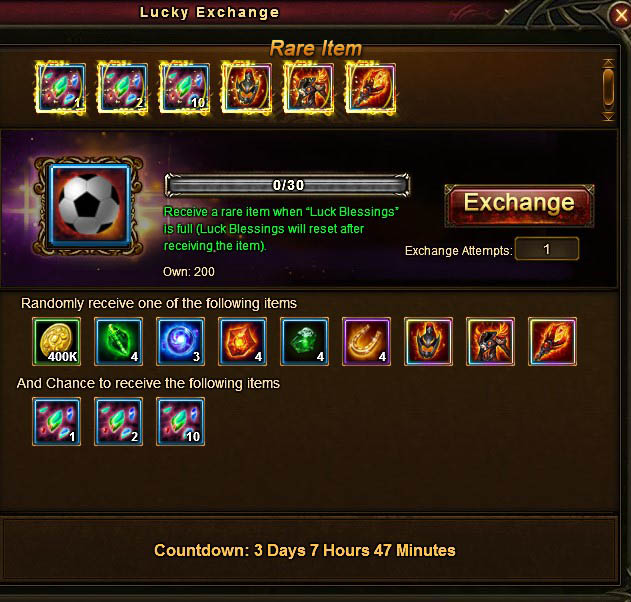 [Patch 6.1] Lucky Exchange Version 2 window
