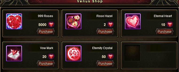 [Patch 6.1] Venus' Battles Venus Shop