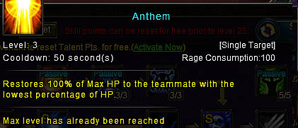 [Wartune Patch 6.1] Anthem Mage Skill