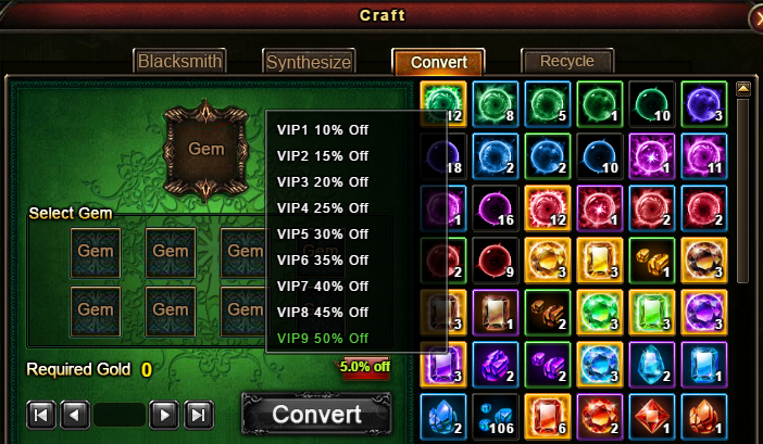 Wartune Patch 6.1 Craft Convert