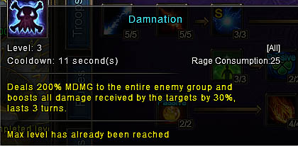 [Wartune Patch 6.1] Damnation Mage Skill