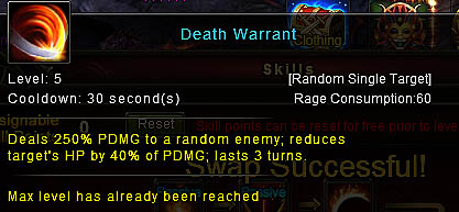 [Wartune Patch 6.1] Death Warrant Knight Skill