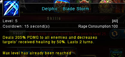 [Wartune Patch 6.1] Delphic Blade Storm