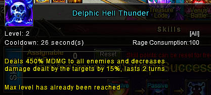 [Wartune Patch 6.1] Delphic Hell Thunder Mage Skill