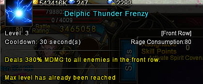 [Wartune Patch 6.1] Delphic Thunder Frenzy Mage Skill