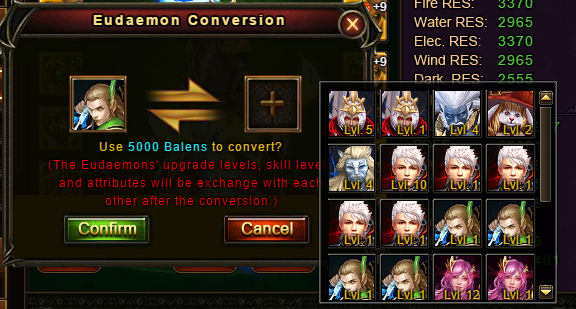 Wartune Patch 6.1 Eudaemon Conversion