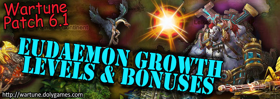 [Wartune Patch 6.1] Eudaemon Growth Levels and Bonuses