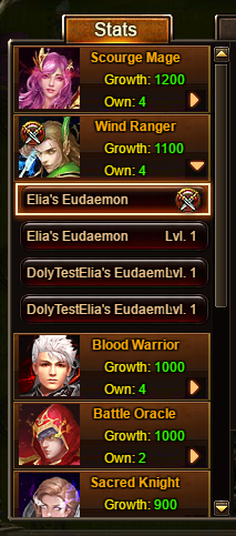 Wartune Patch 6.1 Eudaemon List