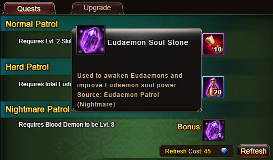 Wartune Patch 6.1 Eudaemon Patrol with Eudaemon Soul Stone