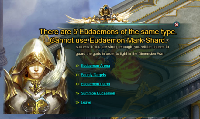 Wartune Patch 6.1 Eudaemon Summon with Eudaemon Mark Shards