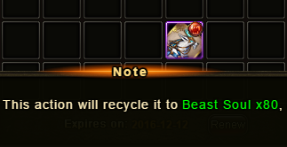 Wartune Patch 6.1 Ice Fang Recycle