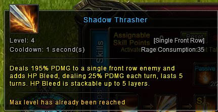 [Wartune Patch 6.1] Knight Skill Shadow Thrasher