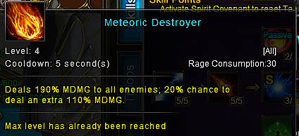 [Wartune Patch 6.1] Meteoric Destroyer Mage Skill