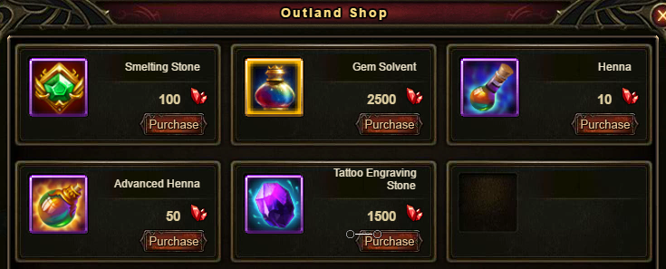 Wartune Patch 6.1 Outland Shop