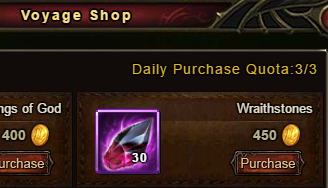 Wartune Patch 6.1 Voyage Shop Wraithstones