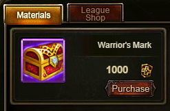 Wartune Patch 6.1 Warrior's Mark in Arena Shop
