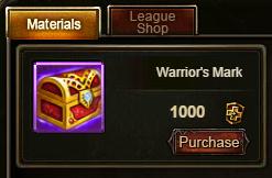 Wartune Patch 6.1 Warrior's Mark in Arena Shop