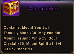 Wartune Patch 6.1 Warrior's Mark