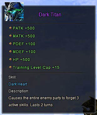 Dark Titan description Wartune
