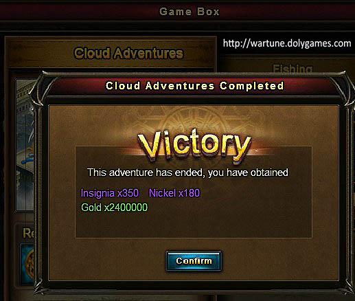 Game Box Cloud Adventures Patch 6.1 rolls x6 example