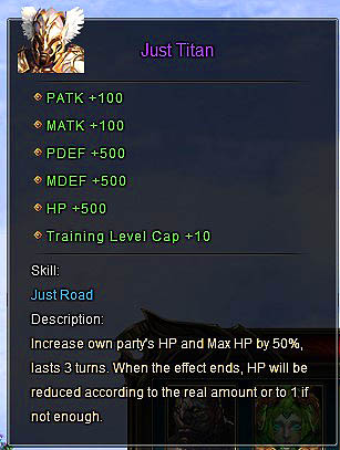Just Titan description Wartune