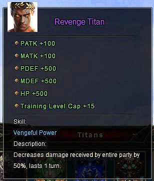 Revenge Titan description Wartune