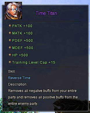 Time Titan description Wartune