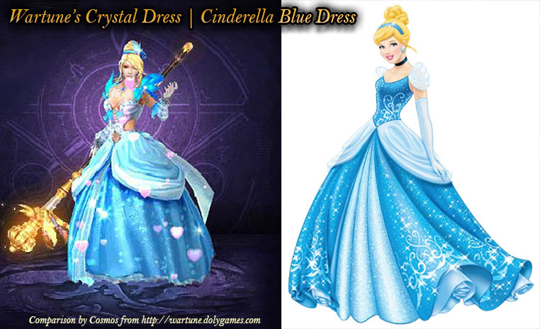 Wartune Crystal Dress vs Cinderella Blue Dress